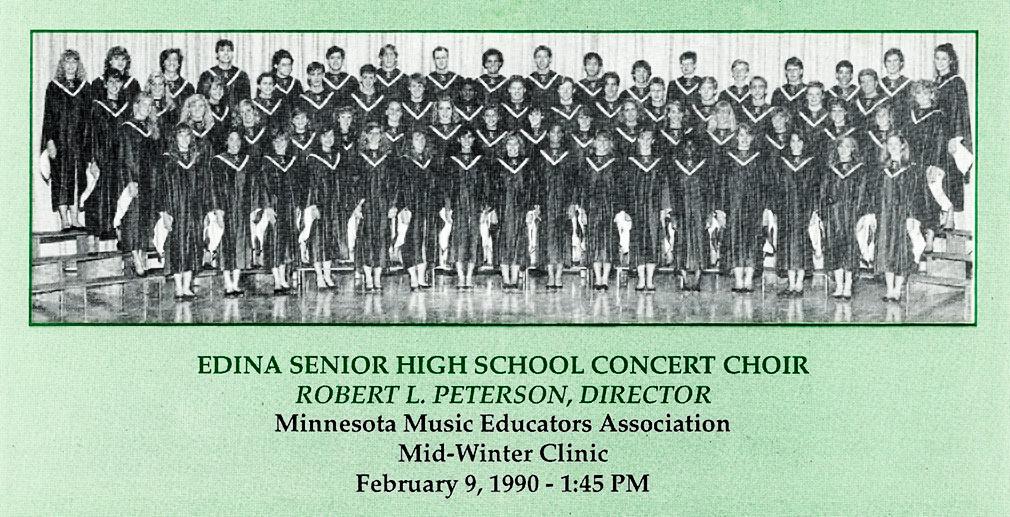 Edina HS Choir at MMEA 1990