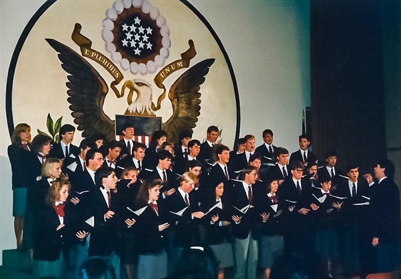 US Embassy in Tokyo - Edina HS & White Bear Lake HS Concert 1987